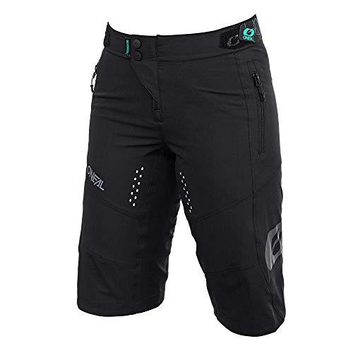 O'Neal | Pantalones de Ciclismo de montaña | MTB Mountain Bike DH Downhill FR Freeride | Corte Femenino, transpiración y Estiramiento Transpirable | Soul Women's Shorts | Adult | Negro | Talla M