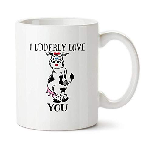 N\A Te Amo, Juego de Palabras de Vaca, Tazas de Animales, Amante de Las Vacas, Vaca Linda, San Valentín, Taza de café, Taza/Taza de la Novedad, Taza de café de cerámica de 11 oz