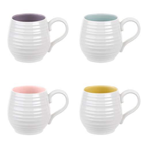 Sophie Conran Colour Pop Set of 4 Honey Pot Mug Assorted Colours