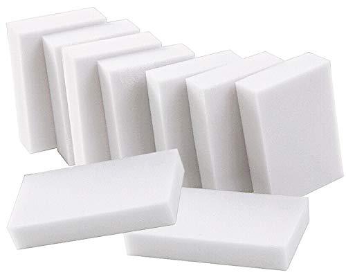 SANTOO 40 PCS Esponja Magica, Esponja Borrador Magico Fuerte Eliminación de Manchas para Todas Las Superficies, Blanca