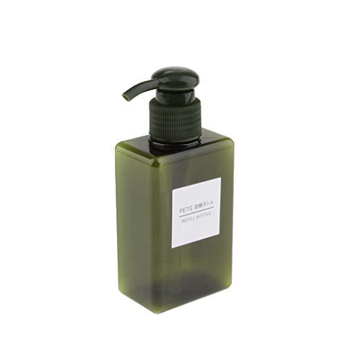 Baoblaze Bouteille Conteneur De Cosmétiques Distributeur De Savon Moussant Liquide - Vert foncé 150ml
