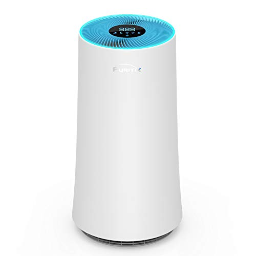 PURITIX HAP450 Air Purifier, H13 True HEPA Home Air Purifiers, Air Cleaner with Sleep Mode for Bedroom Office Pets Hair Smoke Dust, blue, 13*13*24 inch