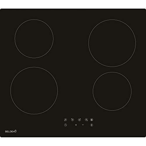 Table de cuisson Vitrocéramique 4 foyers - BELDEKO...