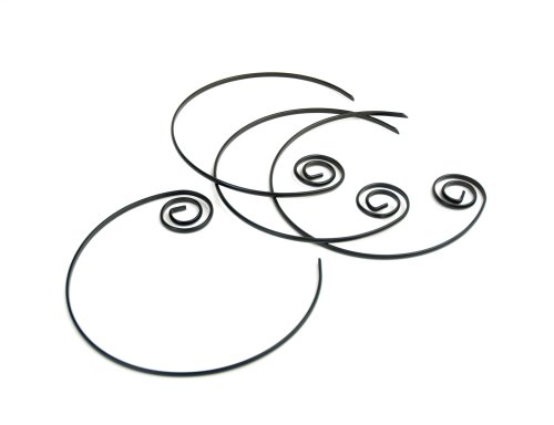 Charcoal Companion Pics à brochettes circulaires antiadhésifs (Jeu de 4), Noir, 2,67 x 15,88 x 24,26 cm
