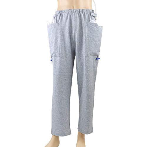 YB-DD Katheter Hosen für Ältere Stoma Fistelchirurgie Patient, Outing Pflege Hose mit Zwei Taschen, Ausflug Hose, Heathy Pflege Kleidung,XL