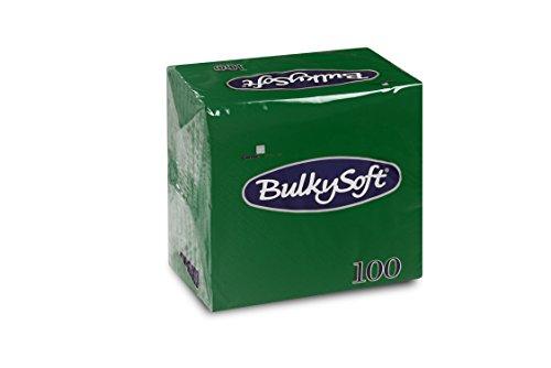 Bulky Soft BS-32640 Serviettes Pliage 1/4 2 Couches 24 cm x 24 cm Lot de 100 Vert