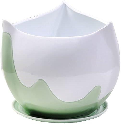 Flower Plant Pots Green Boston overseas Mall And White Ceramic Room Pot Living