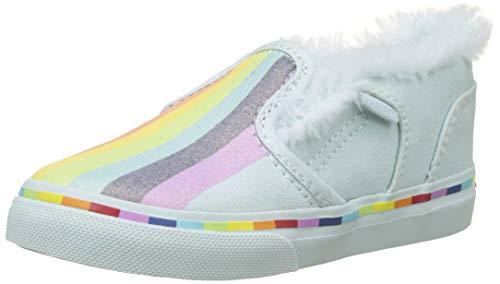 Vans Asher V Toddler, Sneakers Basses Garçon Unisex Kinder, Multicolore ((Cloud) Rainbow U3p), 22 EU