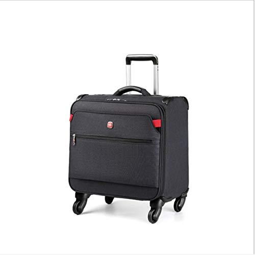 Kleine Trolley koffer Oxford doek Business Boarding, leger mes Trolley Case mannelijke korte afstand koffer Ultra-Small koffer, 16 Inch