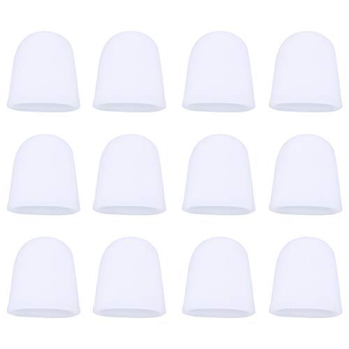 Beaupretty 10 Pares de Protectores de Dedos de Goma para Las Puntas de Los Dedos Condones de Los Dedos Fundas Protectoras de Los Dedos para El Hogar Del Hospital Al Aire Libre