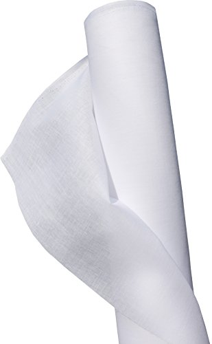 Lucky Brand Iron On Interfacing with Glue Coating - Thin White 55 inch x 1 Yard