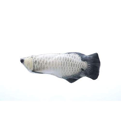 Juguete divertido para inclinar un pez, pez saltador realista, juguete para gato con pez que se balancea, juguete para gatito de acción, juguete de felpa interactivo, juguete ejercicio de gato