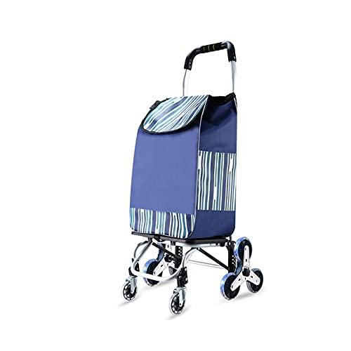 Carro De La Compra Compras Trolley Portátil Plegable Compras Trolley Coche 8 Ronda Trailer De Trolley De Equipaje 41x26x96cm (Color : B)