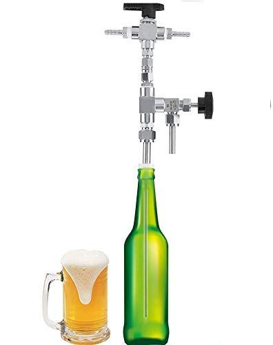 Regun Flaschenfüller, 304 Edelstahl Gegendruck Bierflasche Filler ZuhauseBrew CO2 Bierbrauen-Kit
