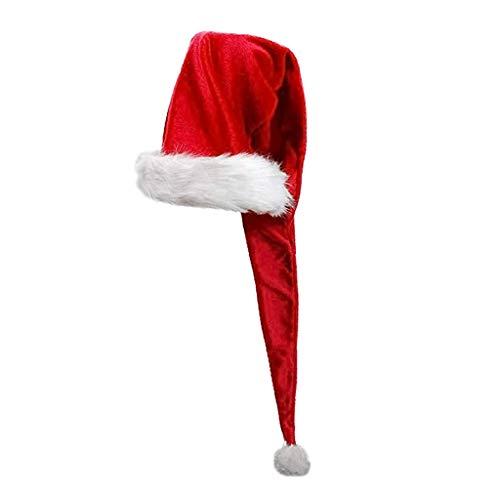 Weihnachtsmütze für Kinder, Weihnachtsmannmütze, super lang, Weihnachtsdekoration, für Kinder und Erwachsene app.155 x 30cm/61.02 x 11.81in 2