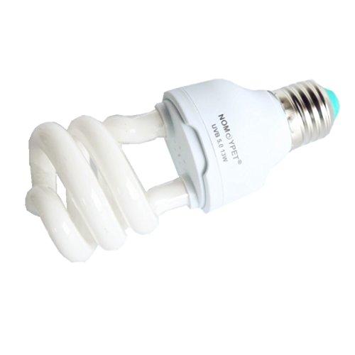 Lampadine a luce ultravioletta UVB 10.0/5.0, da 13 W, per tartarughe, rettili, lucertole 5.0