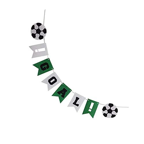 Guirnaldas de fiesta de fútbol para colgar en tela de fiesta de cumpleaños