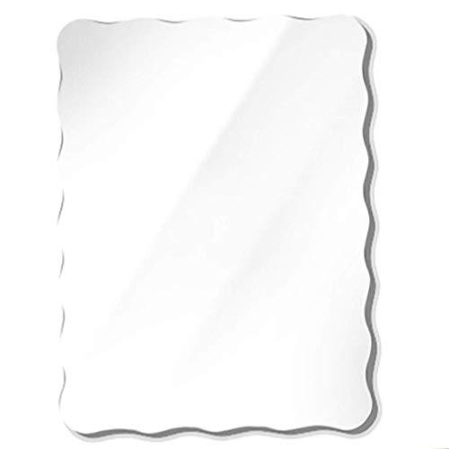 GJJSZ Espejo de baño de Forma Ondulada,Espejo de tocador de Inodoro sin Marco,Espejo montado en la Pared,tocador para Dormitorio,Espejo de Hotel,tamaño 3