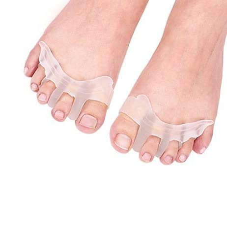 Toe Separators Gel Silicone Toe Spacers, Hammer Toe Straightener Spreaders, Overlapping Toe Corrector Toe Alignment for Bunion Pain Relief for Women Men Night and Day Use