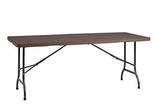 Resol Easy Rattan 180 Table Pliable, Marron, 183 x 76 x 74 cm