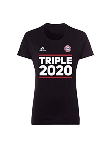 FC Bayern München Damen T-Shirt Triple 2020 schwarz, XL