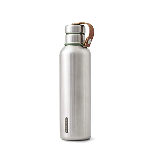 BlackBlum Stainless Steel Insulated Water Bottle  Stylish Leak-Proof Drinking Vacuum Thermo Flask BPA Free Canteen for Hot or Cold Drinks Large Olive