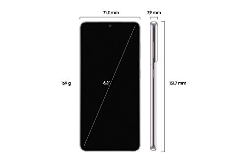 Samsung Galaxy S21 5G, Android Smartphone ohne Vertrag, Triple-Kamera, Infinity-O Display, 256 GB Speicher, leistungsstarker Akku, Phantom White - 2