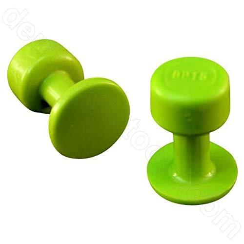 DentMagicTools.com Blackplague 10 15mm Gang Green Round PDR Glue Tabs