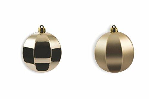 Galileo Casa Champagne Set de Boules de Noël, Beige, 8 x 8 x 8 cm, 12 unités
