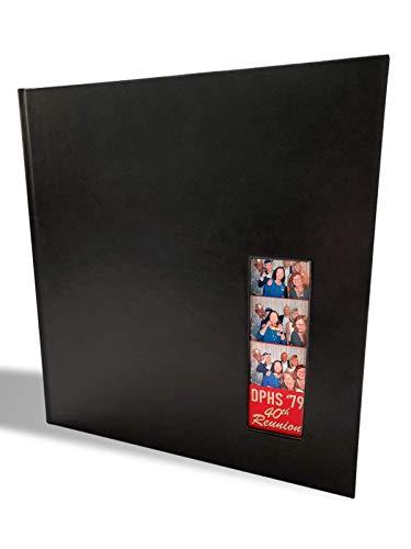"Photo Booth Album for 2""x6"" Photo Strip Pics - 60 Pages Holds 240 Photobooth Photos - Slide-in Photo Booth Photo Album - 2 inch x 6 inch – Wedding Scrapbook - Bookmark Album  "