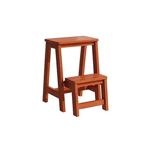 Z-H Massief hout stap kruk vouwen kruk veelzijdige indoor twee drie verdiepingen hoge ladders ladder stoel verhogen verdikt