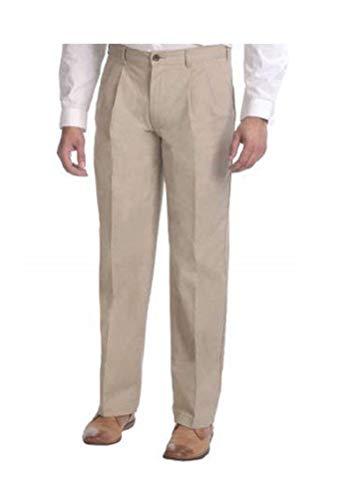 Puritan Men's Wrinkle-Resistant Pleat-Front Khaki Pants