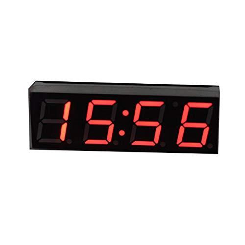 MXECO 3 en 1 LED digital Reloj de tiempo Temperatura Voltaje Módulo Mini voltímetro Termómetro para CarElectronic DIY (Rojo)