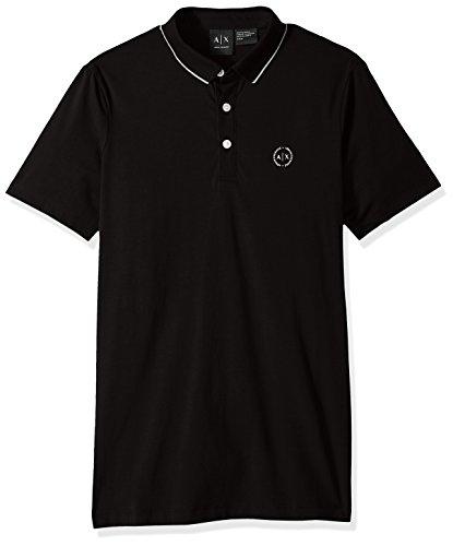 Armani Exchange 8nzf70 Polo, Negro (Black 1200), Small para Hombre