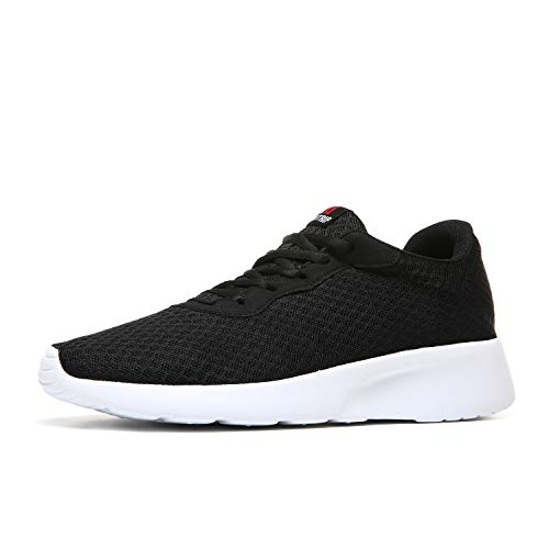 MAIITRIP Womens Fashion Sneakers Gym Slipon Ladies Lightweight Workout Jogging Walking Athletic Tennis Shoes Black White Size 6.5
