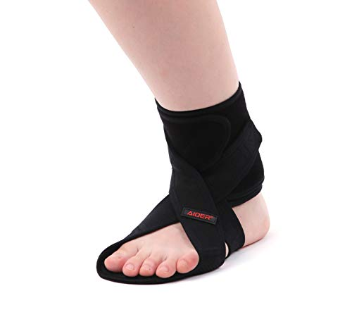 AIDER Dropfoot Braces Type 3 - Foot stabilizer Worn with Shoes, Prevent Inversion of feet, Orthopedic Medical Equipment, Lightweight Material with adhensive Velcro, Improvement in gait (Free Right)