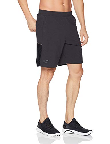Amazon Brand - Peak Velocity Men's Build Your Own Brief Liner Run Short (Multiple Inseams), black, Large