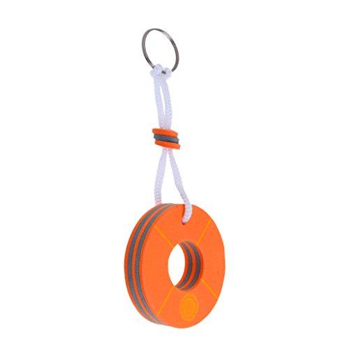 MagiDeal Schlüsselanhänger mit Schlüsselring, Schwimmend Für Kanu, Kajak, Bootsport - Boje Form - Orange