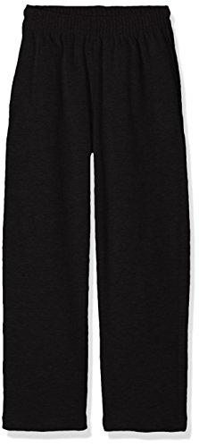Fruit of the Loom Jungen Lightweight Open Hem Jog Pants Kids Sporthose, Schwarz (Black 101), 152 (Herstellergröße: 12-13)
