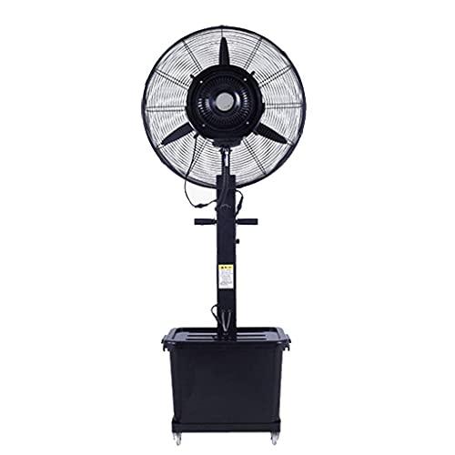 yanzz Ventiladores Ventilador de Servicio Pesado Potente Ventilador Industrial portátil Enfriamiento Eficiente energético/Nebulización Ventilador de Pedestal oscilante Silencioso, 42 L/3 veloc
