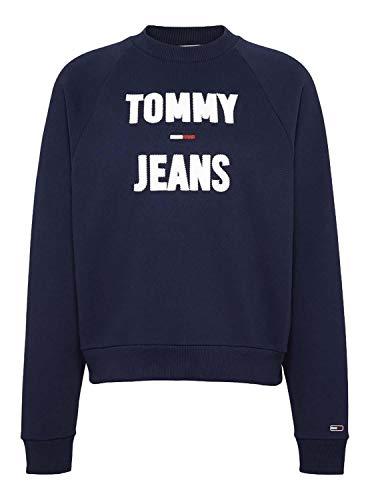 Tommy Jeans Sudadera Logo Raglan Marino