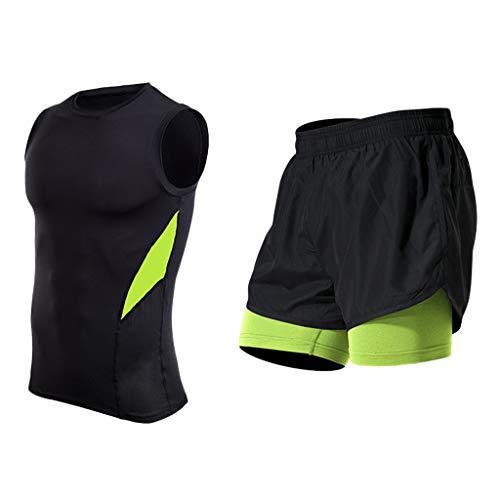 Yowablo Herren Shorts Badepants Sweatshorts Sport Shorts Trainingsshorts Kurze Jogginghose Boxer Shorts Kurze Hose Boxershorts Bermudas Sunbrief (3XL,Grün)
