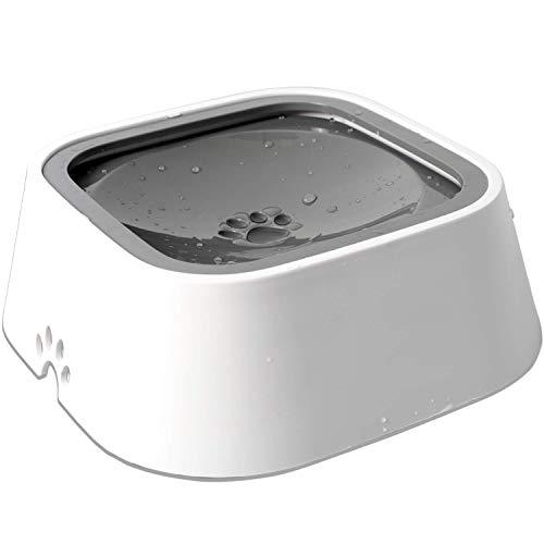 LNLJ Waterschaal voor huisdieren, anti-overloop, antibacterieel materiaal, antislip bodem honing/kat/huisdier, auto drijvende waterschaal, 1,5 l (50 oz)