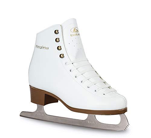 Botas - Modell: Regina / Made in Europe (Tschechische Republik) / Eiskunstlaufschuhe für Damen, Mädchen, Kinder/Nicole Blades/Weiß, Unisex-Kinder Unisex-Erwachsene Mädchen Damen, weiß, Adult 5