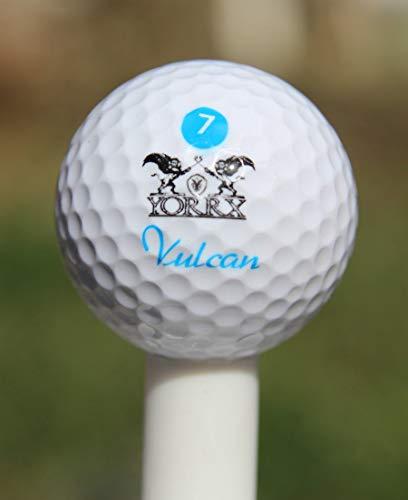 "Yorrx 12er Set Turnierbälle ""Vulcan 7"" Golfbälle 3-Schicht-Technologie"