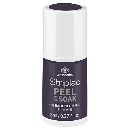 alessandro Striplac Peel or Soak Back to the 90! - LED-Nagellack in dunklem Grau-Violette mit Shimmer - Für perfekte Nägel in 15 Minuten, 8 ml