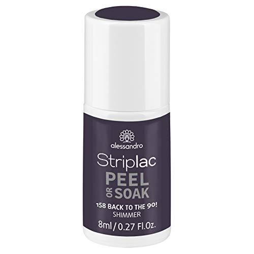 alessandro Striplac Peel or Soak Back to the 90! - LED-Nagellack in dunklem Grau-Violette mit Shimmer - Für perfekte Nägel in 15 Minuten, 8 ml
