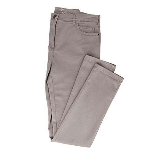 Relaxed by Toni 2840-13 21-31 Damen Hose 'Meine Beste Freundin' 5-Pocket-Form, Groesse 48K, Taupe