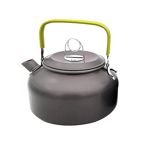 JJY Tetera portátil al Aire Libre Botella de Agua Utensilios de Cocina Picnic Kettle Pot Resistencia Tratamiento DE OXIDACIÓN Duro for COMPAMIENTO Cocina (Color : 0.8L)