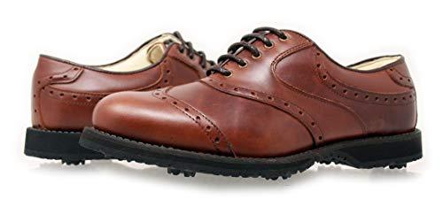 PORTMANN Zapatos de Golf Prime Club Para Hombre | Cuero Premium | Pure Drive Tec., Color Moc Brown, Talla 43
